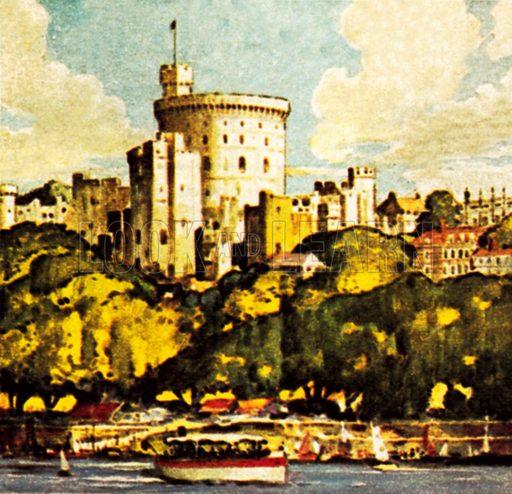 Windsor Castle. NB: Scan of small illustration.
