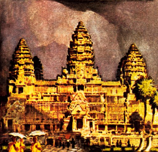 Angkor Vat. NB: Scan of small illustration.