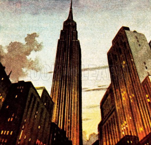 Empire State Building. NB: Scan of small illustration.