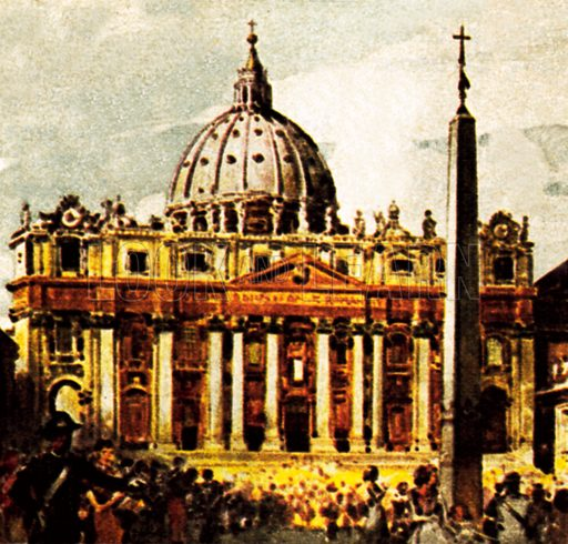 St Peter's Basilica. NB: Scan of small illustration.