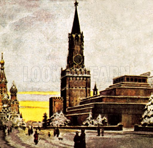 The Kremlin, Moscow. NB: Scan of small illustration.