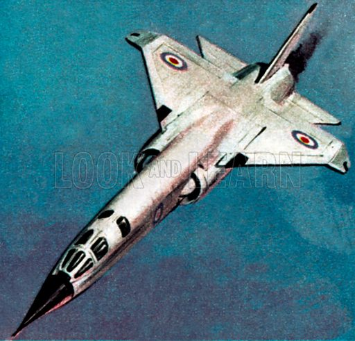 TR2 Supersonic Bomber. NB: Scan of small illustration.