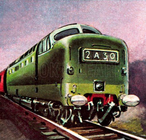 Diesel locomotive. NB: Scan of small illustration.