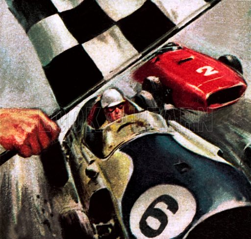 Mike Hawthorn, 1968. NB: Scan of small illustration.