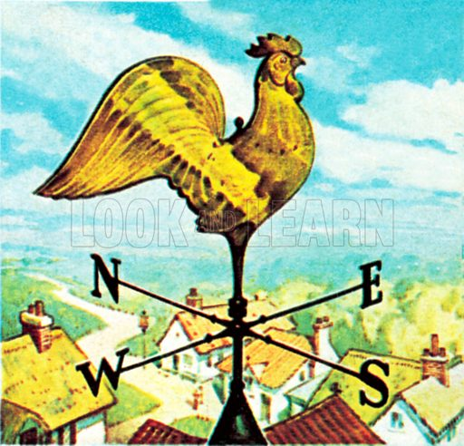 Weather vane. NB: Scan of small illustration.
