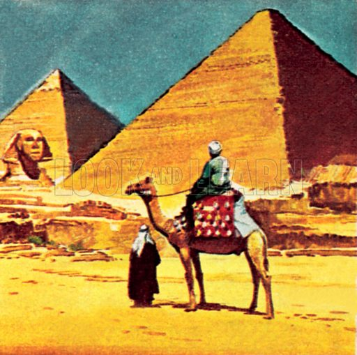 Egyptian pyramids. NB: Scan of small illustration.