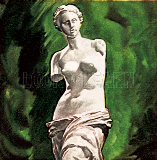 Aphrodite of Melos, or Venus of Milo. NB: Scan of small illustration.