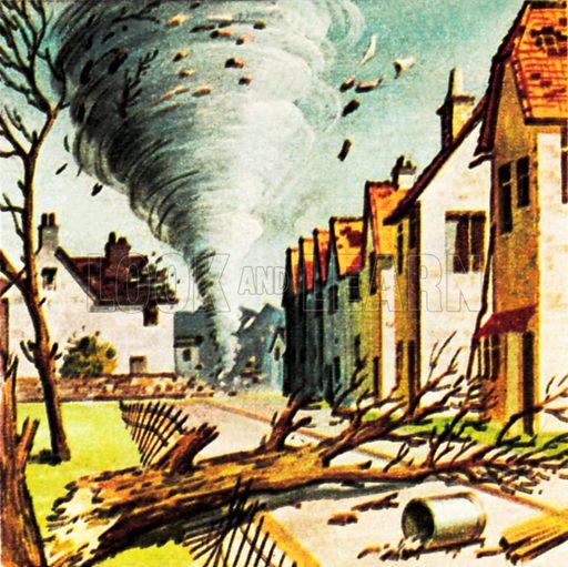 Tornado in Lancashire. NB: Scan of small illustration.