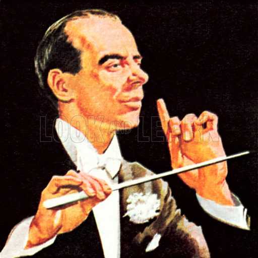 Sir Malcolm Sargent. NB: Scan of small illustration.