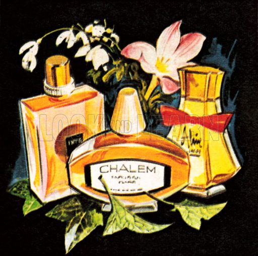 Perfumes. NB: Scan of small illustration.