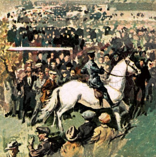 White Horse at the 1923 Cup Final at Wembley. NB: Scan of small illustration.