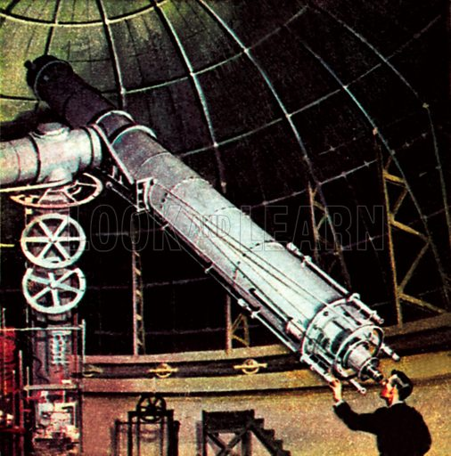 Giant telescope. NB: Scan of small illustration.