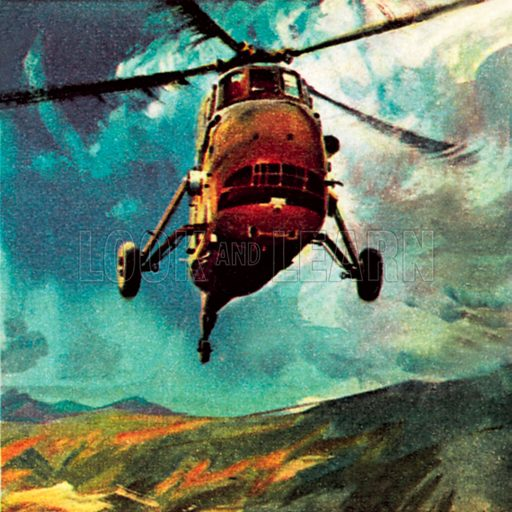 Helicopter. NB: Scan of small illustration.