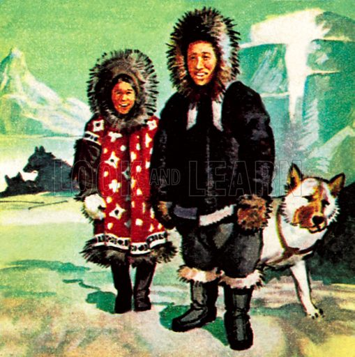 Eskimoes. NB: Scan of small illustration.
