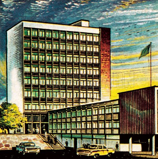 Association of the Royal Institute of British Architects or ARIBA.  NB: Scan of small illustration.