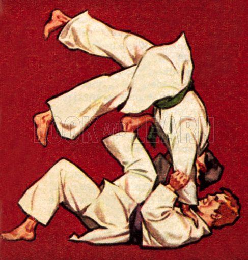 Judo. NB: scan of small illustration.