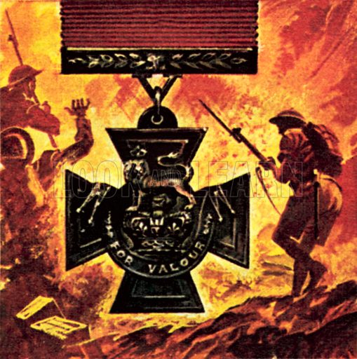 The Victoria Cross. NB: Scan of small illustration.