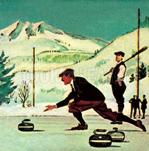 Curling. NB: Scan of small illustration.