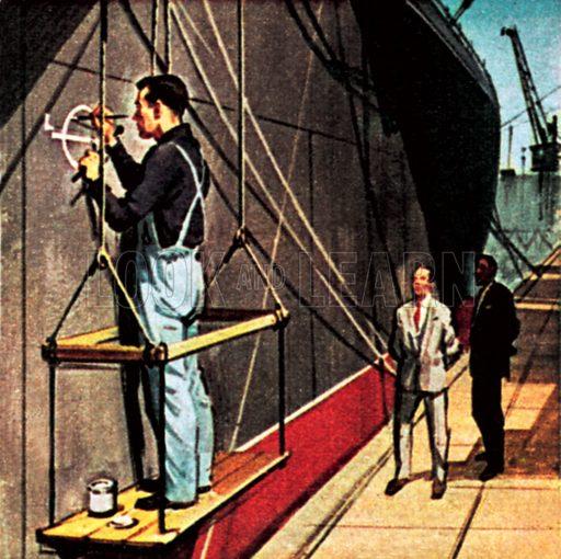 Plimsol mark or load line. NB: Scan of small illustration.
