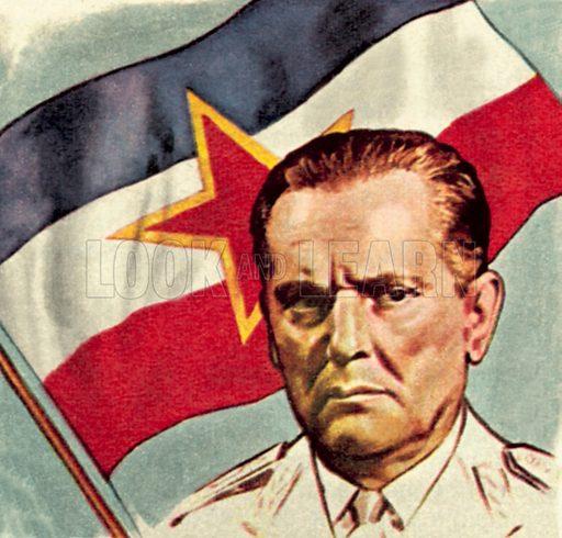 President Tito of Yugoslavia. NB: Scan of small illustration.