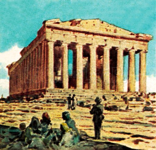 The Parthenon in Athens. NB: Scan of small illustration.