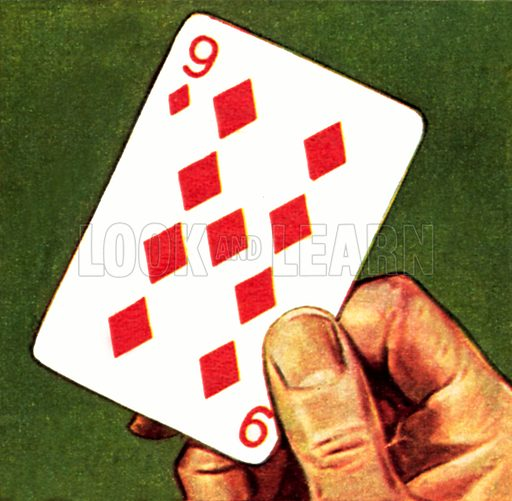 The Nine of Diamonds, or curse of Scotland. NB: Scan of small illustration.