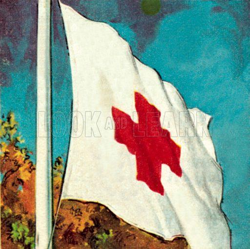 International Red Cross Flag. NB: Scan of small illustration.