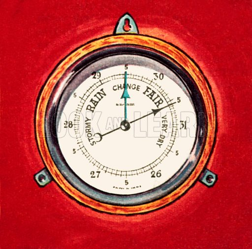Barometer. NB: Scan of small illustration.