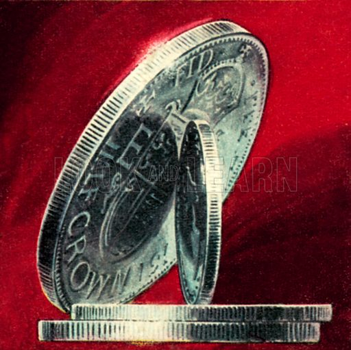 Milled edge of an English coin. NB: Scan of small illustration.