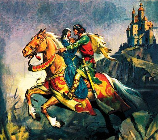 Young Lochinvar, scene from Marmion, by Scottish poet Sir Walter Scott.
