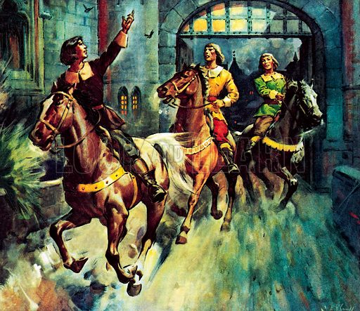 Famous Horses of Fact and Fiction: How They Brought the Good News from Ghent to Aix was the title of one of Robert Browning's most famous poems, relating how Roland carries news from the rebels of the Dutch states against the Spanish. Browning never revealed what news Roland was carrying.