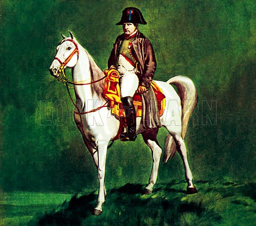 Famous Horses of Fact and Fiction: Napoleon on his favourite charger, 'Marengo'.