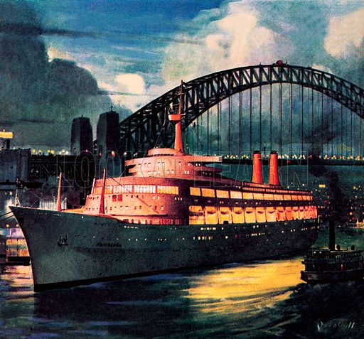 Famous Ships: SS Canberra. The most up-to-date liner when it was launched in March 1960.