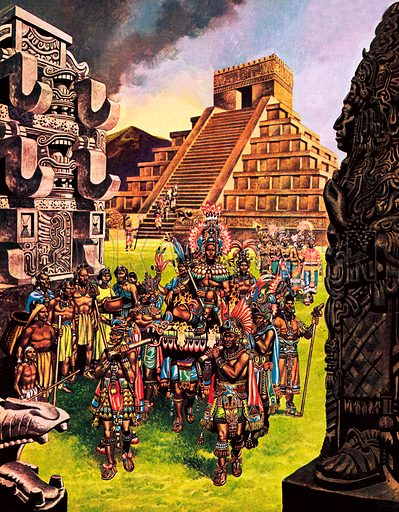 Mayan city, picture, image, illustration