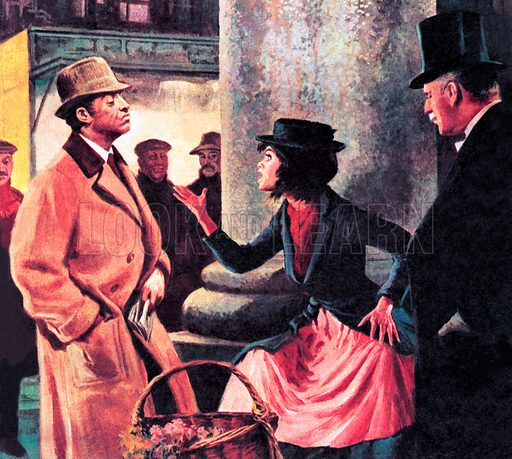 Famous Couples: Professor Higgins and Eliza Doolittle.