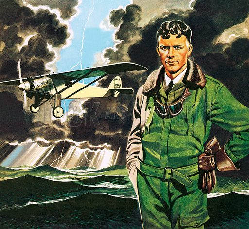 Charles Lindbergh, picture, image, illustration