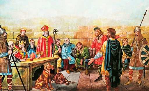 King and his Council, picture, image, illustration