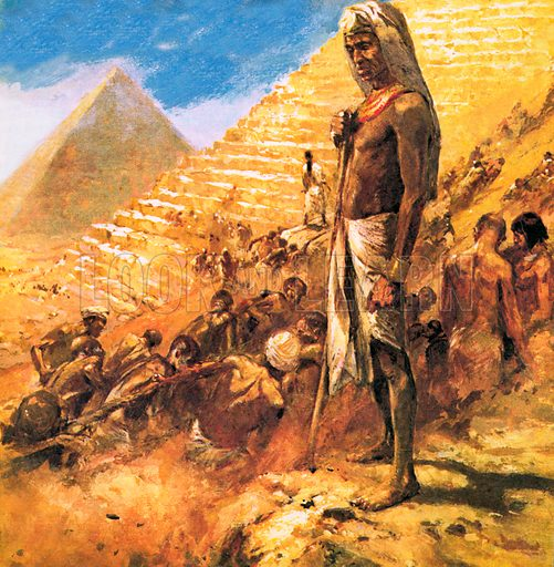 Building the Pyramids, picture, image, illustration