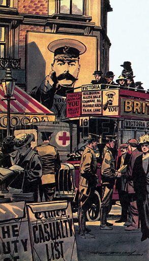 WW1 Home Front, picture, image, illustration