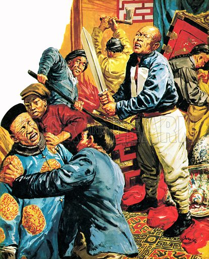 The terror of the Tongs, Chinese secret societies.