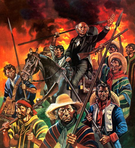 Miguel Hidalgo, Catholic priest and leader of the revolt beginning the Mexican War of Independence, 1810.