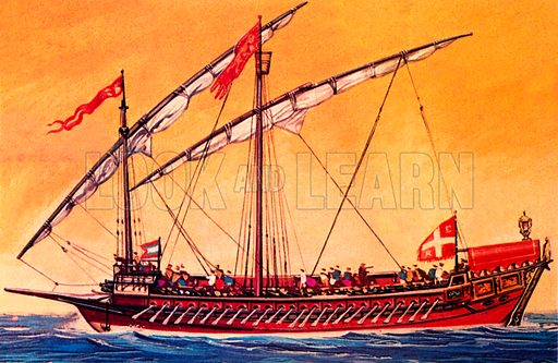 Venetian galley.  NB Scan of small illustration.