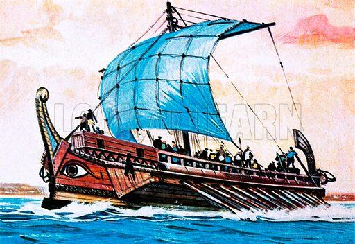 Greek cargo shipping. NB Scan of small original.