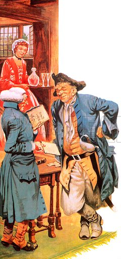 Parson Woodforde buying tea from a smuggler.