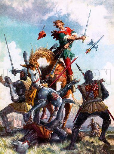 Robin Hood fighting.