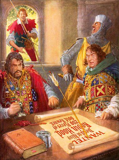 Robin Hood humiliating Prince John.