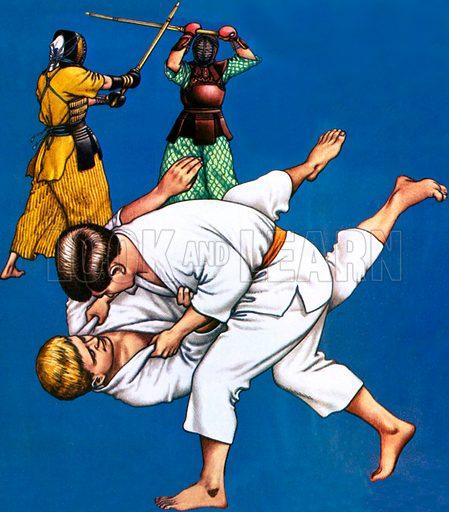 Judo, picture, image, illustration
