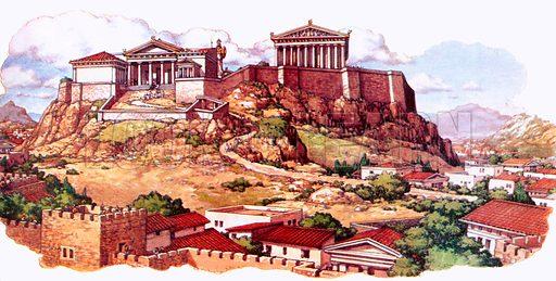 Acropolis, picture, image, illustration