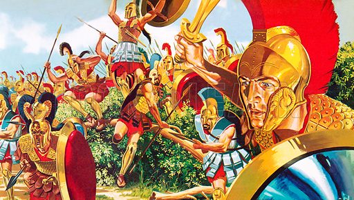 Spartan warriors, picture, image, illustration