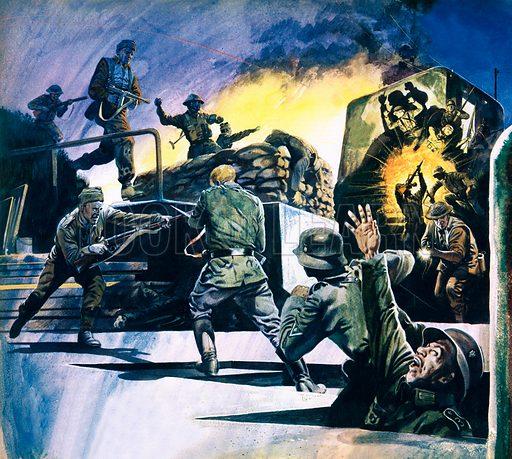 British Commandos in action.